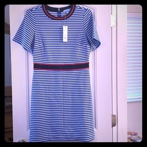 NWT Stripe Persley Ponte Dress Size M